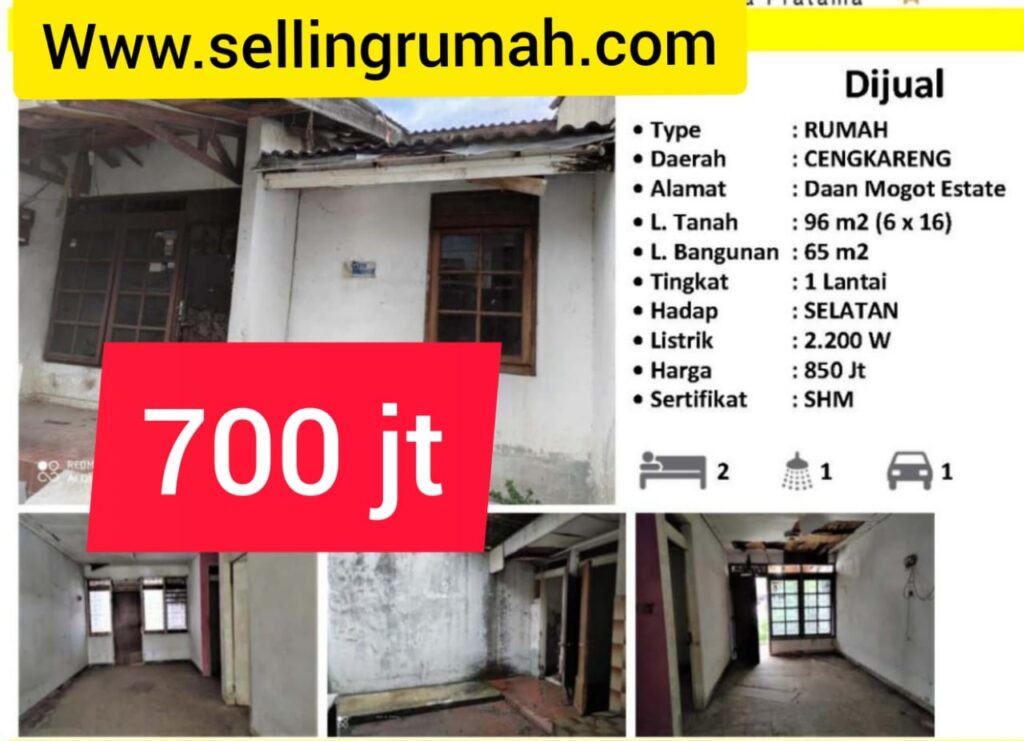 Jual Daan Mogot Estate 700 jt di Kapuk Cengkareng Tato 087875863425