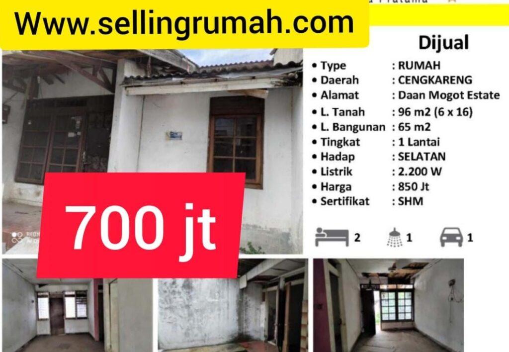 Dijual Daan Mogot Estate 700 jt di Kapuk Cengkareng Tato 087875863425